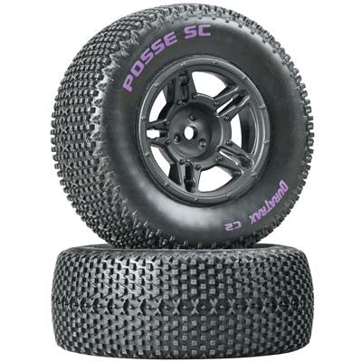 DTXC3695 Posse SC Tire C2 Mntd Blk Slash Blitz SCRT10 (2)