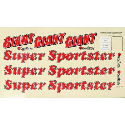 GPMA2908 Decal Giant Super Sportster ARF