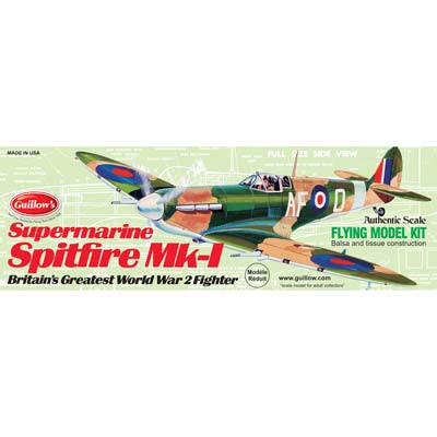GUI504 Guillow Supermarine Spitfire MK-1