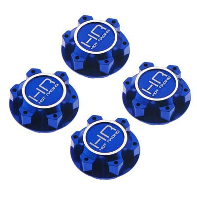 XMX10N06 Aluminum 25mm Hex Serrated Nut Blue X-Maxx