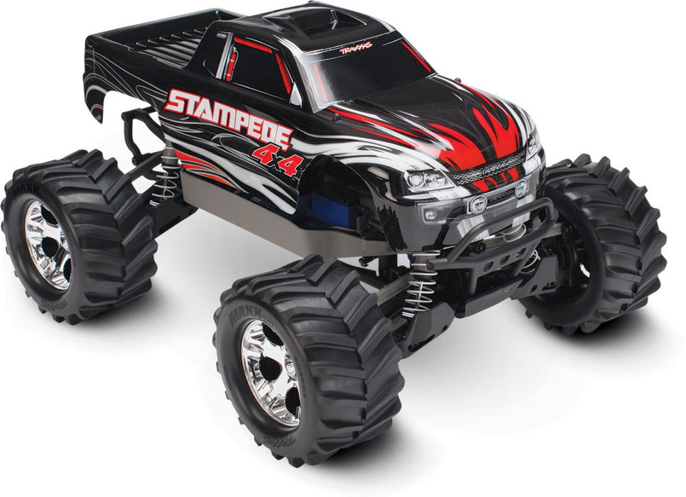 TRA67054-1 BLACK Traxxas Stampede 4X4 brushed Titan 12t motor and XL-5 ESC