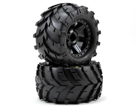 PRO1192-12 Masher 2.8 All Terrain Tires Mntd Black Whls