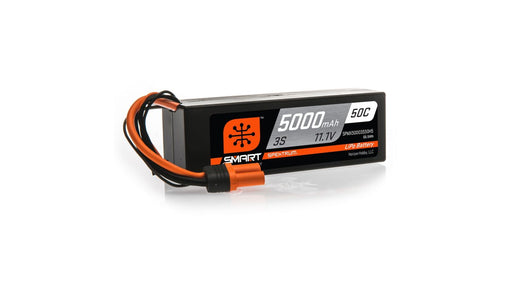 SPMX50003S50H5  11.1V 5000mAh 3S 50C Smart LiPo Battery, Hardcase, IC5