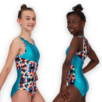 Leap Gear Switch/Geo Kaleidoscope Gymnastics Leotard
