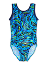 Leap Gear Blue Burst Gymnastics Leotard