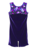 Leap Gear Purple Peacock Velvet Gymnastics Biketard