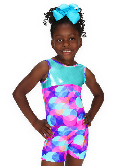 Leap Gear Pastel Dots Gymnastics Biketard