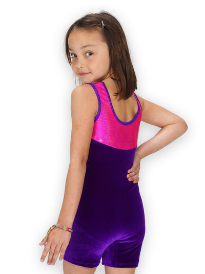 Leap Gear Best Friends Velvet Gymnastics Biketard