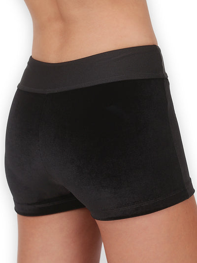 Leap Gear Black Velvet Gymnastics Shorts