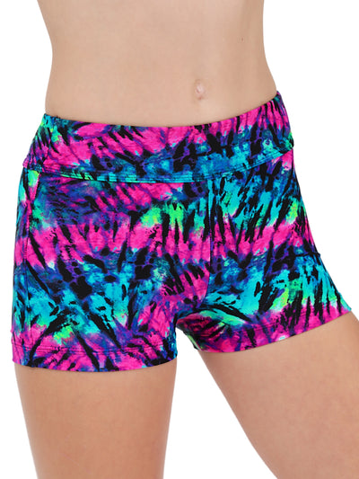 Leap Gear Purple Tie-Dye Gymnastics Shorts