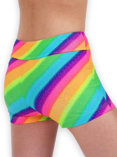 Leap Gear Rainbow Sparkle Gymnastics Shorts