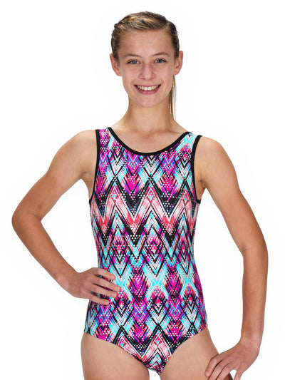 Leap Gear Zig Zag Hologram Gymnastics Leotard