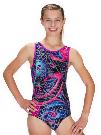Leap Gear Abstract Swirl Gymnastics Leotard