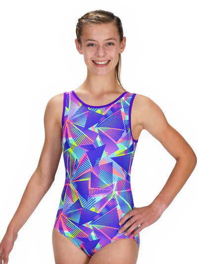Leap Gear Geometry Soft Touch/Easy Care Gymnastics Leotard