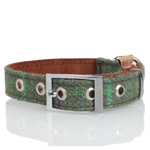 Green Tweed Collar