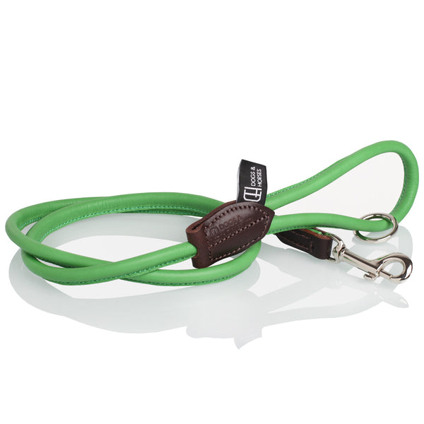 Green Rolled Leather Lead