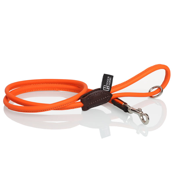 Orange Rolled Leather Lead