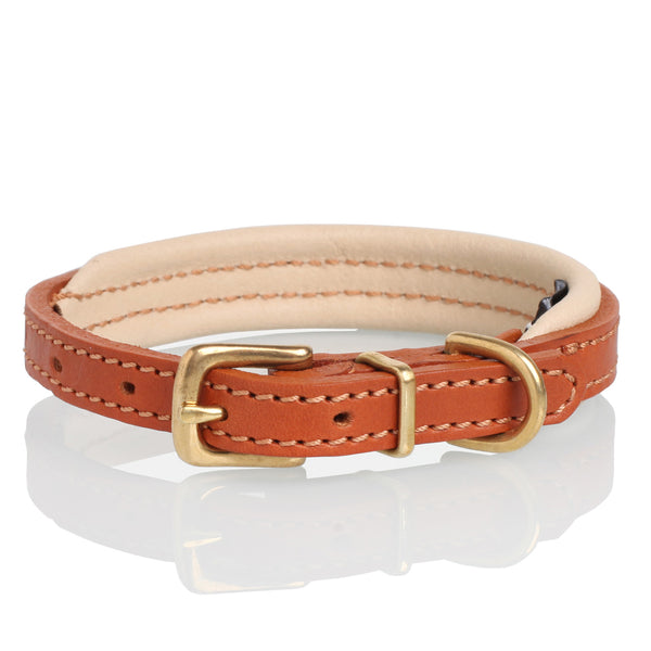 Leather Colours Collar - Tan