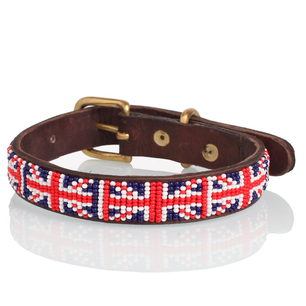 Jack Beaded Leather Collar