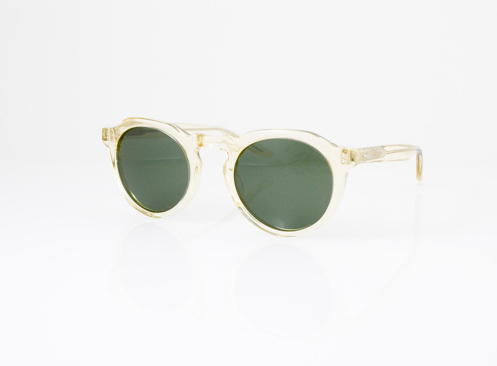 Barton Perreira Ascot Sunglasses in Champagne, side view, from Specs Optometry