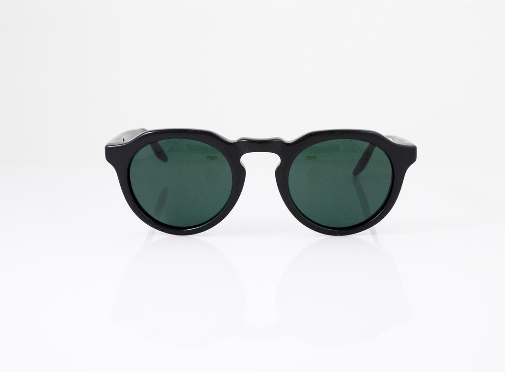 Barton Perreira Ascot Sunglasses in Black, front view, from Specs Optometry