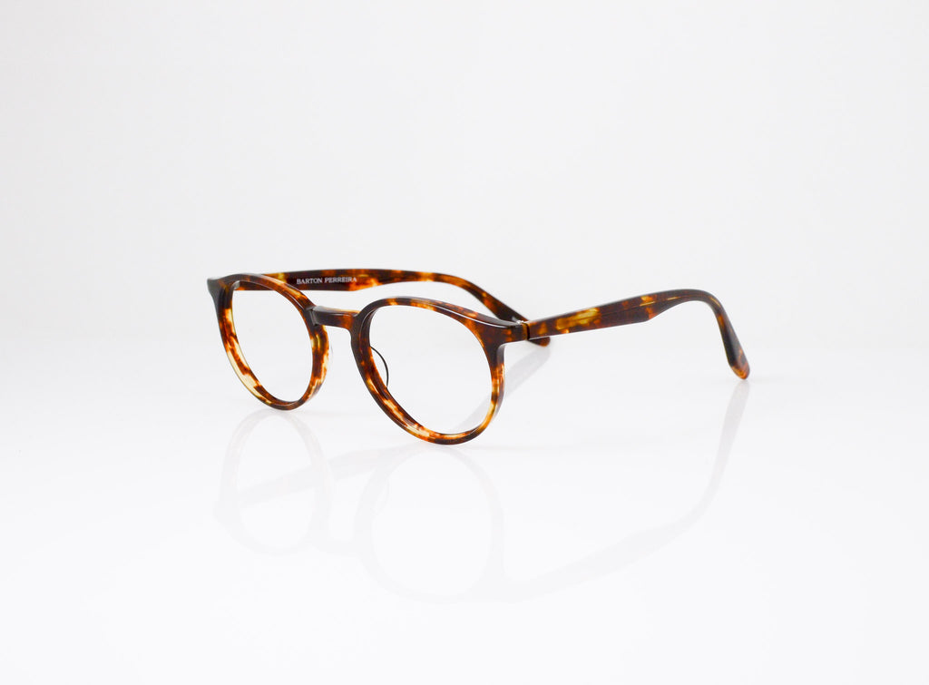 Barton Perreira Norton Eyeglasses in Chestnut, side view, from Specs Optometry