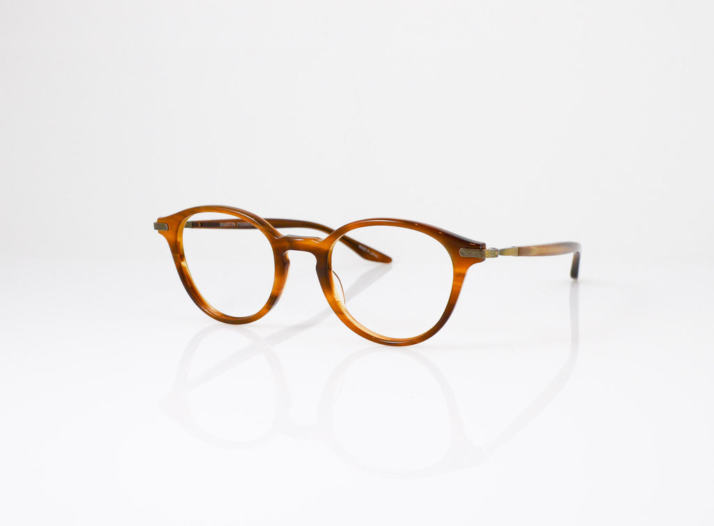 Barton Perreira Geist Eyeglasses in Umber Tortoise, side view, from Specs Optometry