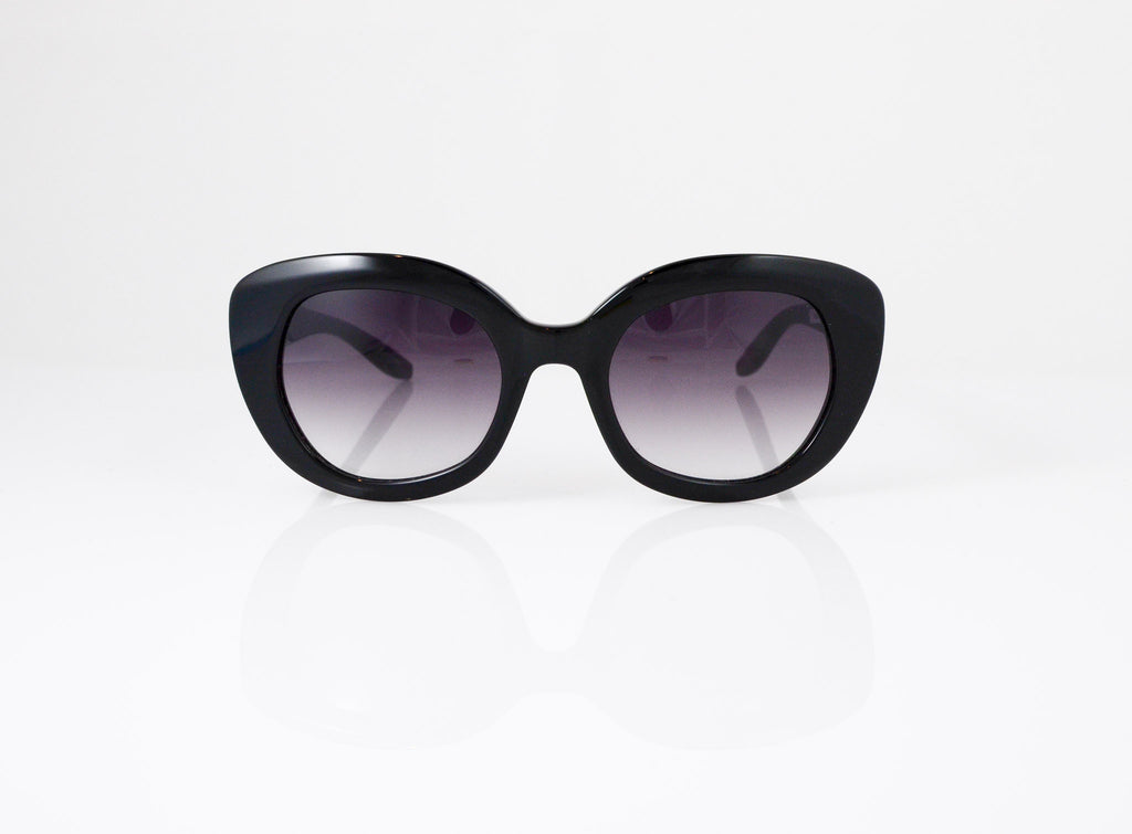 Barton Perreira Loulou Sunglasses in Black, front view, from Specs Optometry