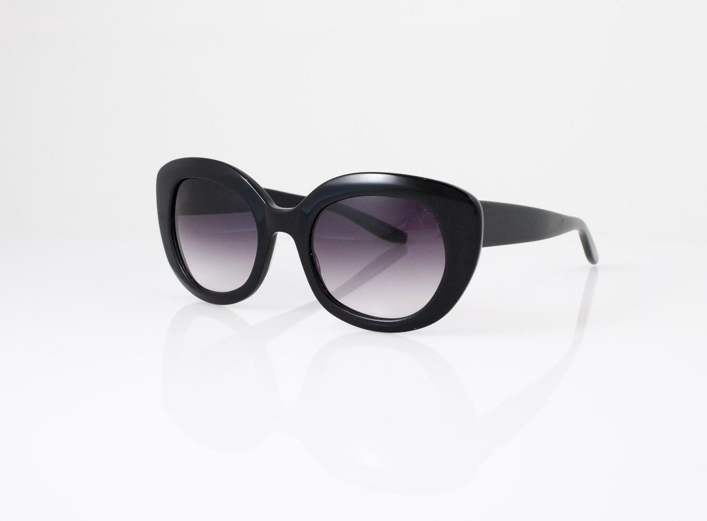 Barton Perreira Loulou Sunglasses in Black, side view, from Specs Optometry
