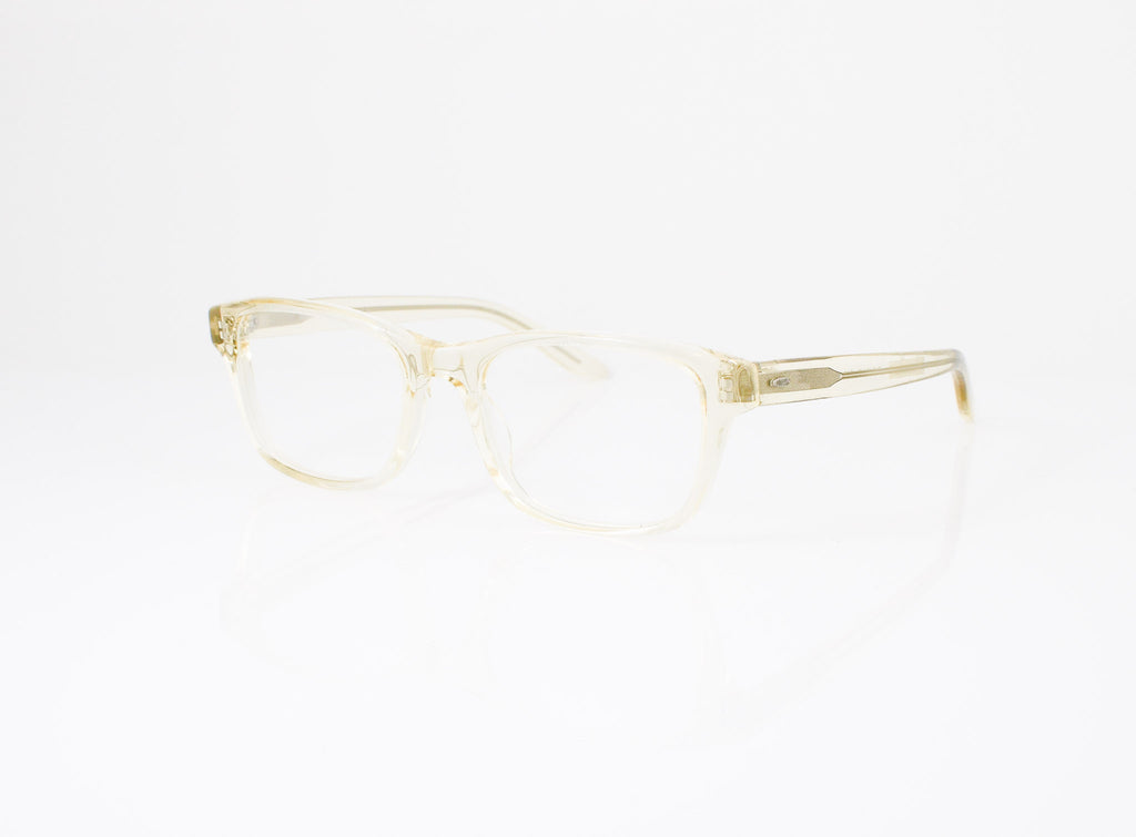 Barton Perreira Curtis Eyeglasses in Champagne, side view, from Specs Optometry
