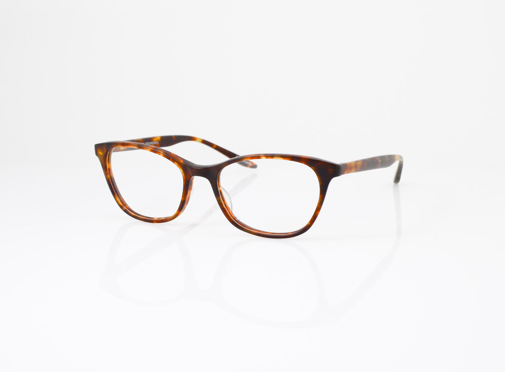 Barton Perreira Hettie Eyeglasses in Matte Chestnut, side view, from Specs Optometry
