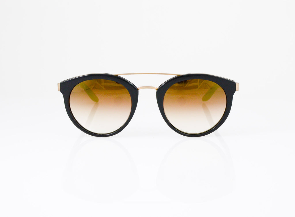 Barton Perreira Dalziel Eyeglasses in Black with Gold Rush lens, front view, from Specs Optometry