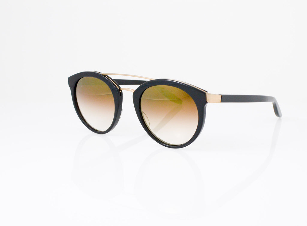 Barton Perreira Dalziel Eyeglasses in Black with Gold Rush lens, side view, from Specs Optometry