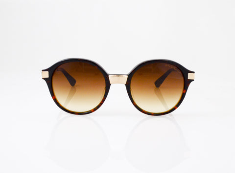 DITA Burmilla Sunglasses in Tortoise, front view, from Specs Optometry