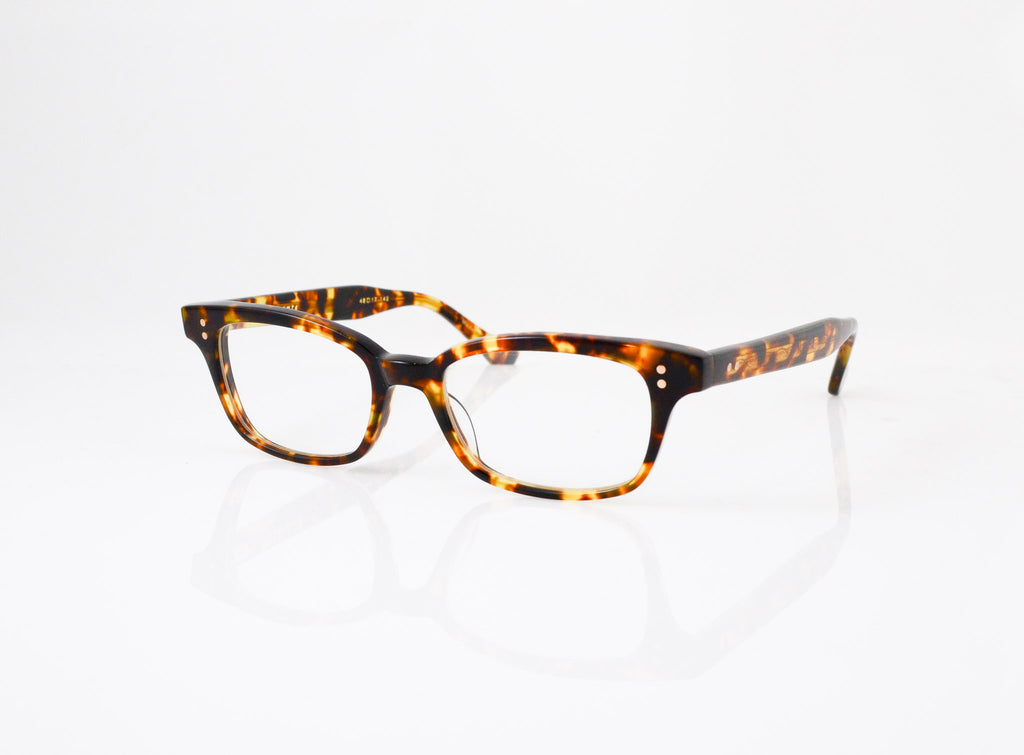 DITA Courante Eyeglasses in Shiny Tokyo Tortoise, side view, from Specs Optometry