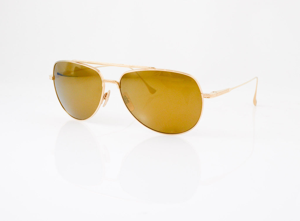 226e0ab46a DITA Flight 004 Sunglasses in 12k Gold with Polarized Dark Brown Gradient  lens