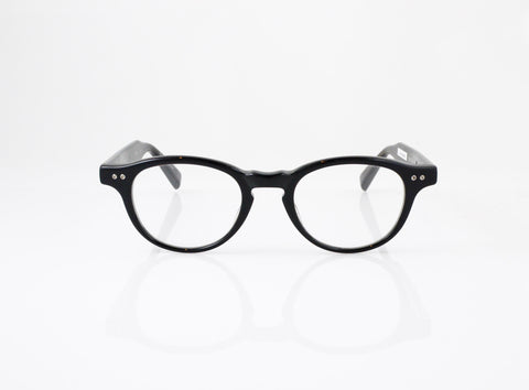 DITA New Yorker Eyeglasses in Black with Black Swirl, front view, from Specs Optometry