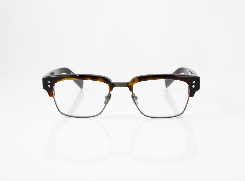 DITA Statesman Eyeglasses in Dark Tortoise with Burnt Brown, front view, from Specs Optometry
