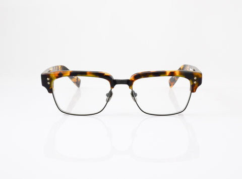 DITA Statesman Eyeglasses in Matte Tokyo Tortoise, front view, from Specs Optometry