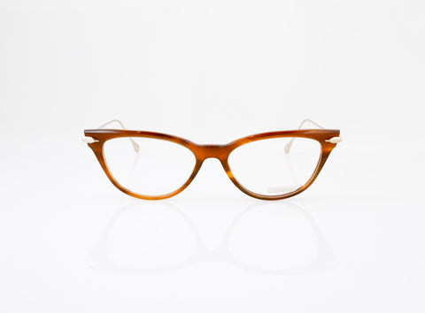 DITA Vida Eyeglasses in Amber Maple, front view, from Specs Optometry