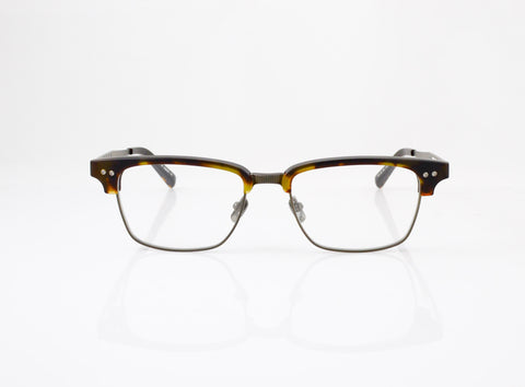 DITA Statesman Three Eyeglasses in Matte Tortoise with Burnt Brown, front view, from Specs Optometry