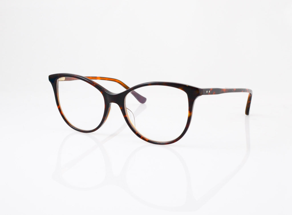 DITA Daydreamer in Dark Tortoise Coffee Caramel, side view, from Specs Optometry