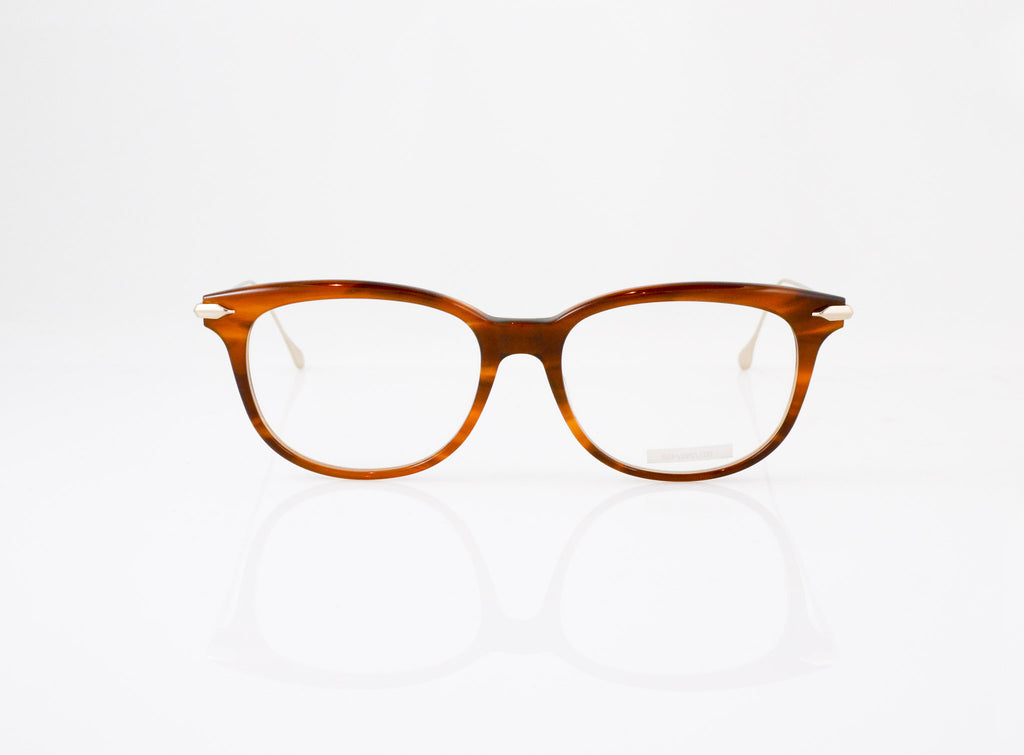 DITA Chic Eyeglasses in Amber Maple with Champagne, front view, from Specs Optometry