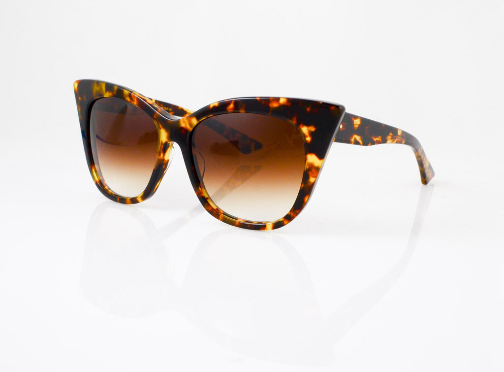 DITA Magnifique Sunglasses in Tokyo Tortoise, side view, from Specs Optometry