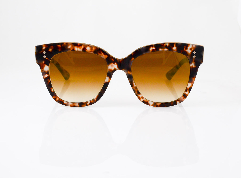 DITA Daytripper Sunglasses in Cream Tortoise with 14k Gold, front view, from Specs Optometry