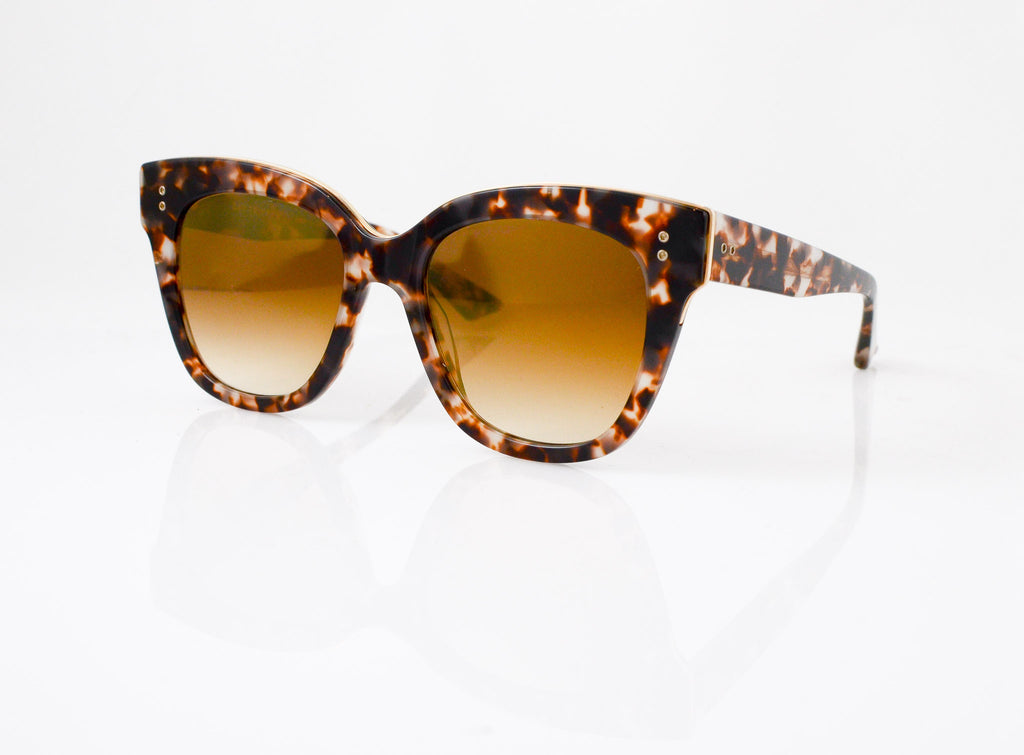 DITA Daytripper Sunglasses in Cream Tortoise with 14k Gold, side view, from Specs Optometry
