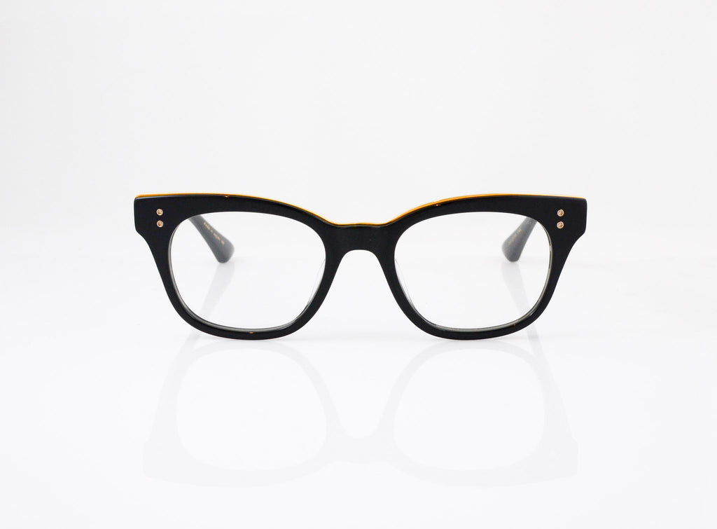 DITA Rhythm Eyeglasses in Black with 18k Gold, front view, from Specs Optometry