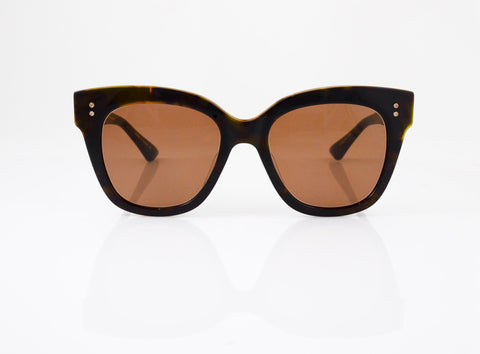 DITA Daytripper Sunglasses in Dark Tortoise with 12k Gold, front view, from Specs Optometry