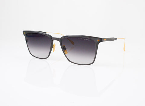 DITA Voyager Sunglasses in Black Iron with 18k Gold, front view, from Specs Optometry