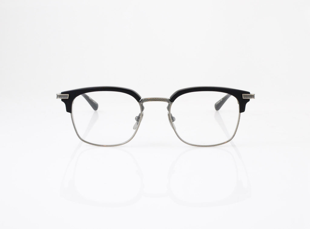 DITA Nomad Eyeglasses in Navy with Antique 18k Gold, front view, from Specs Optometry